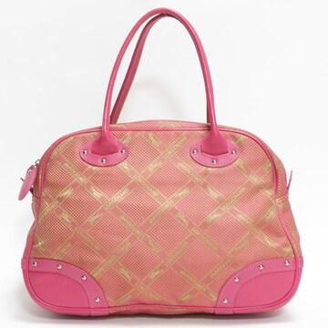 美品ロンシャン バンドバッグ ロゴ柄 ピンク 良品 正規品