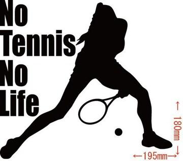 カッティングステッカー No Tennis No Life (テニス)・11