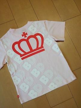 中古Tシャツ110ピンク☆ベビードールBABYDOLLベビド