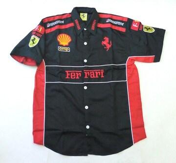 1セール! フェラーリ ロゴ  シャツ M f153