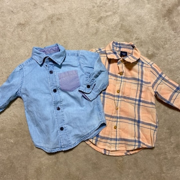 baby gap シャツ2枚