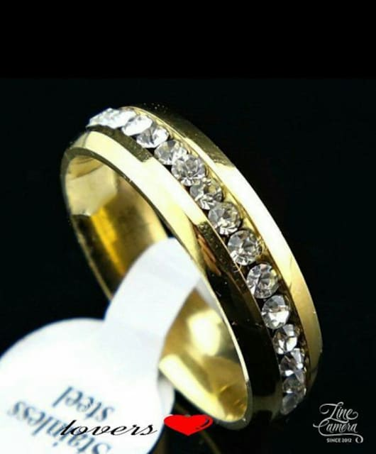 送料無料10号ゴールドスーパーCZダイヤフルエタニティリング指輪 < 女性アクセサリー/時計の