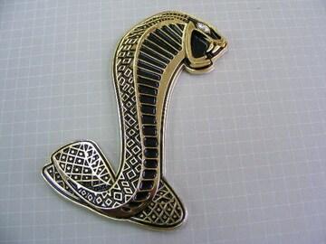 ●  KING COBRA コブラ! GOLD/BL メタル製 エンブレム ●