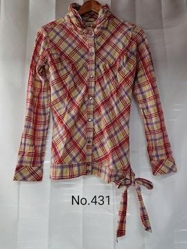No.431 送料込 スナップボタン シャツジャケット L