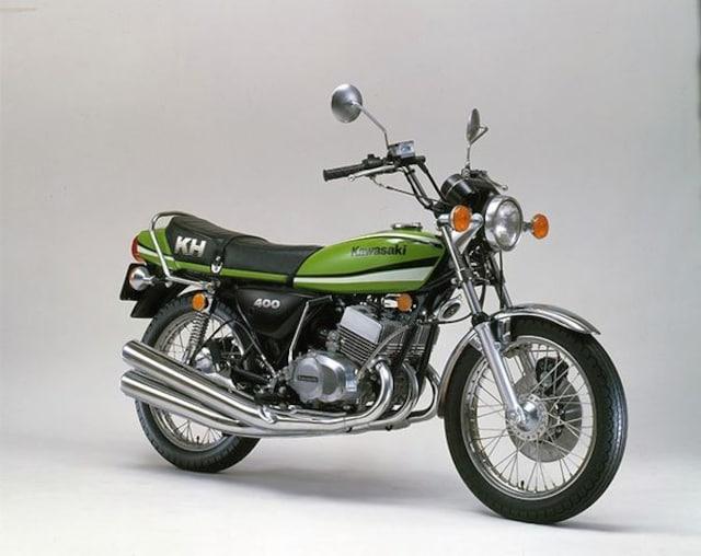 KH400 最終型 希少純正新品サイドカバー・エンブレム < 自動車/バイク