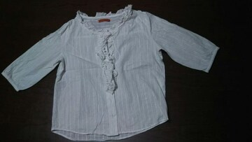 WHO´SWHO 半袖ブラウス 美品 白 銀糸