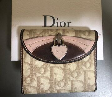 1スタ 大人気☆ Dior トロッター レザー 折財布