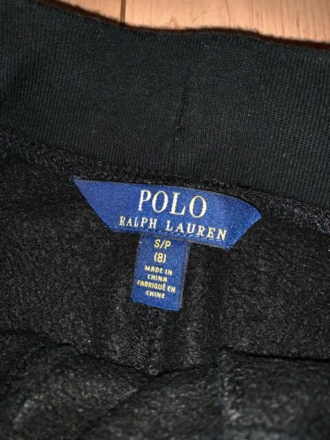 ラルフローレン 140 裏起毛 スウェットパンツ 黒 POLO < ブランドの