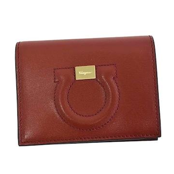 ★サルヴァトーレフェラガモ 2つ折財布(RED)『22D514』★新品本物★