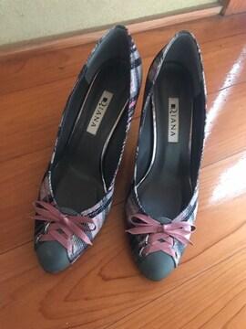 ダイアナ DIANA リボン パンプス レディース 靴 23.5
