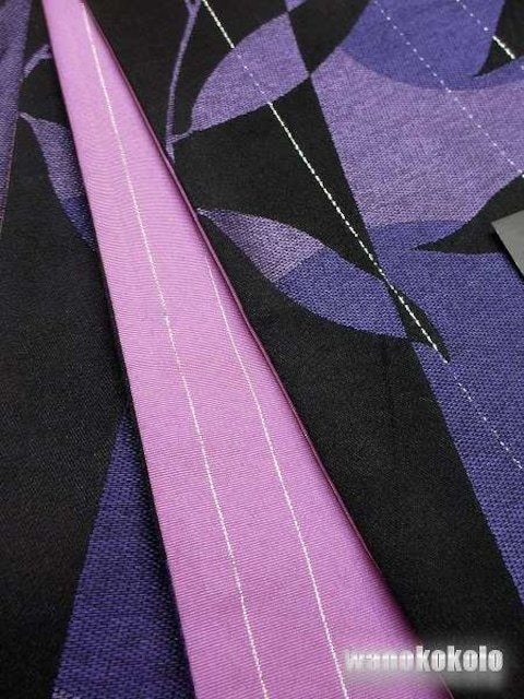 【和の志】RKブランド◇浴衣用小袋帯◇黒系ラメ◇YKB-102 < 女性ファッションの