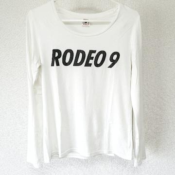 RODEOCROWNS ロデオクラウンズ ロンT ロゴ 白 ホワイト サイズ1