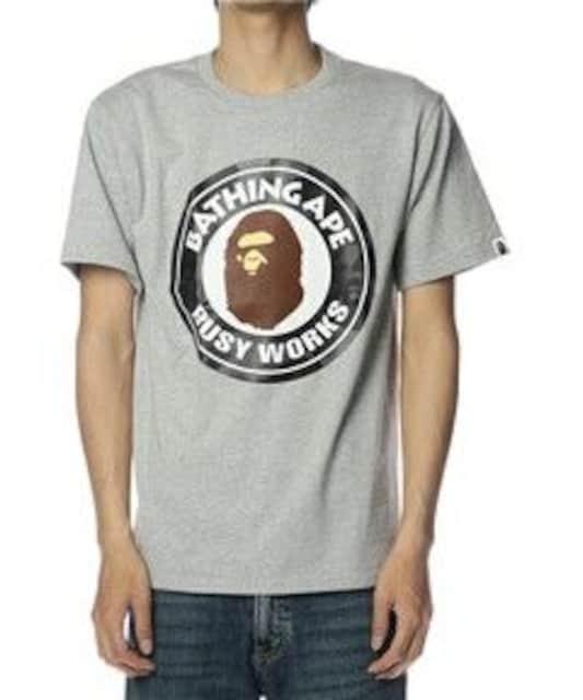 ††APE†猿迷彩柄BUSY WORKSプリントTシャツ† < ブランドの