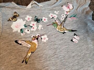 ★美品★H&M★花、鳥、蝶★サイズEUR122-128★
