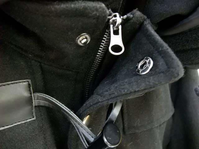 メルトンウールボリュームネックフードショートダッフルコートMブラック黒新品※2点送料無料 < 男性ファッションの