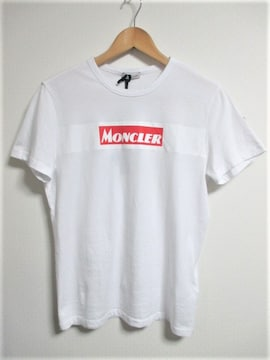☆MONCLER モンクレール ボックスロゴ ワッペン プリント Tシャツ/メンズ/S☆国内正規