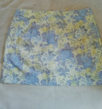 dazzlin(ダズリン) ミニスカート花柄ブルー