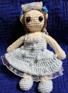 水色ウェディングドレス