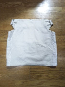 MARSマーズ☆腰開き&バックル★サイドレース白スカート