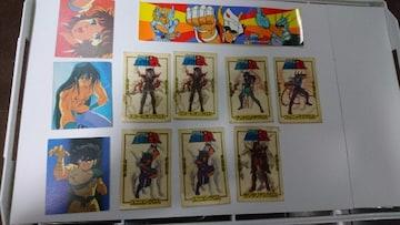 聖闘士星矢 当時物カード、ステッカー、シールセット現状品