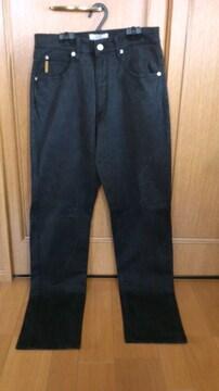 激安91%オフアルマーニ、ストレッチ、パンツ(黒、ロゴ、加工、イタリア製、34)