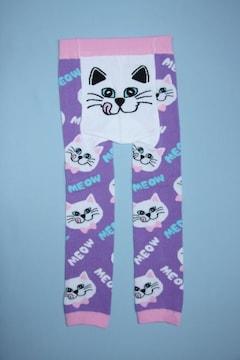 サイズ限定!お買得!!ねこ柄ベビー用スパッツ/レギンス80-90ネコ猫