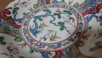 伊万里焼…赤絵松竹梅図柄祝賀用皿…窯…印2枚470�c