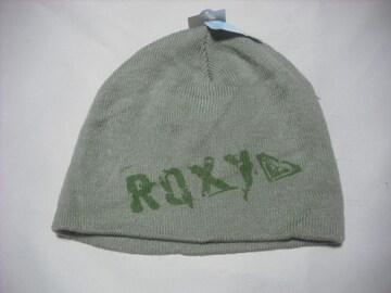 wb765 ROXY ロキシー ニット帽 ビーニー オリーブ