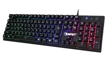 ゲーミングキーボード LED バックライト 7色