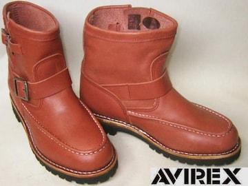 AVIREXアビレックス新品ショート エンジニア ブーツ2535RB 9