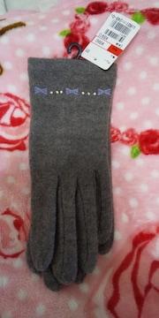 リボン刺繍の手袋♪新品