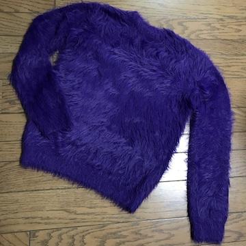 スタニングルアー パープル紫フェザープルオーバーニット
