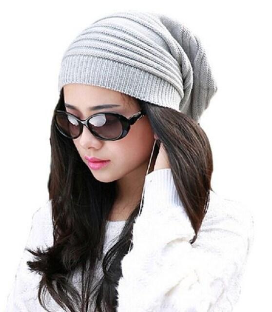 ネット最安値690円★メンズ レディース ニット帽★薄グレー  < 女性ファッションの