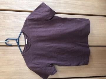 GU ブラウン 半袖Tシャツ XL