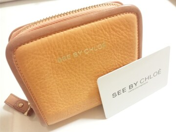 12820/SEEBYCHLOEシーバイクロエ★確実本物ファスナー付きのタイプの財布