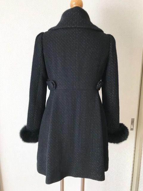 [Xmiss]★ファー付きコート・ブラックカラー・サイズ[35]★ < ブランドの
