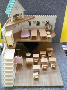 シルバニアファミリー「森のとけい台の楽しい学校セット他」