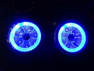 日産 LEDイカリングフォグランプ 青 クリッパー ピノ モコ