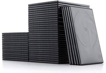 サンワダイレクト DVDケース スリム 2枚収納 50枚セット 7mm