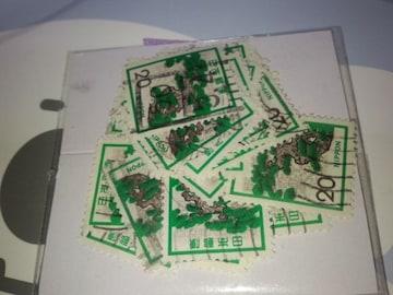 使用済み切手ペーパーオフ  松・30枚