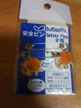 ★新品 公式戦使用可能 バタフライ Butterfly 安全ピン ゼッケン用★