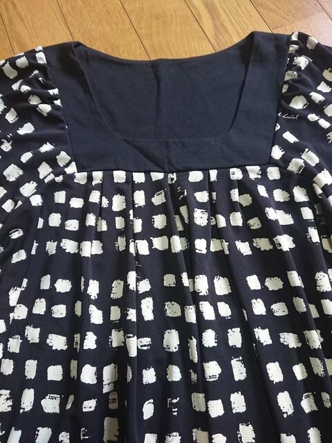 可愛い紺色の チュニック < 女性ファッションの