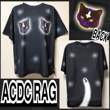 【新品/ACDC RAG】エヴィルキャットプリントTシャツ
