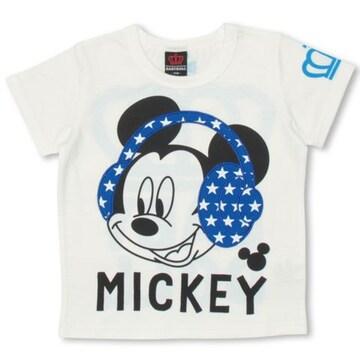 新品BABYDOLL☆120 ディズニー ミッキー Tシャツ ヘッドフォン ベビードール