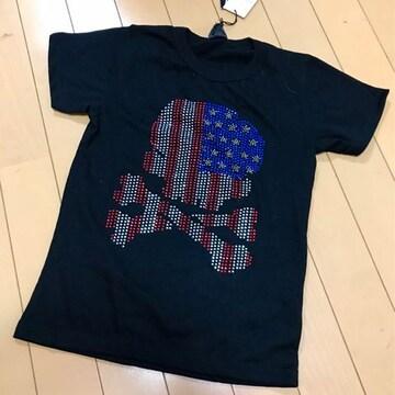 新品 きらきらスタッズ アメリカンドクロ 半袖Tシャツ 140スカル