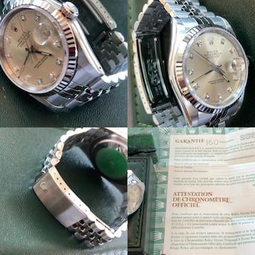 値下 返品保証 極美品 デイトジャスト 16234   10ダイヤモンド