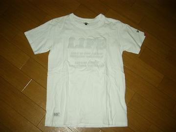 WTAPSダブルタップスTシャツS白LIFEロゴアップリケ
