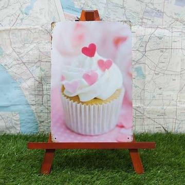 新品【ブリキ看板】Cupcake/カップケーキ Pink