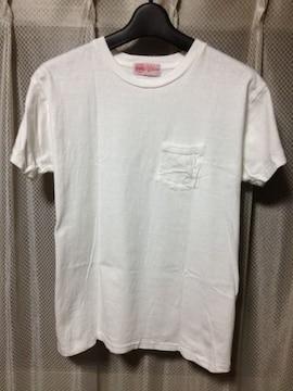 UTICA BODYGARD ロストヒルズ 無地 ポケット半袖Tシャツ 34 XS 白 日本製