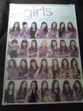 †E-girls【CANDY SMILE】28人直筆サイン入りポスター